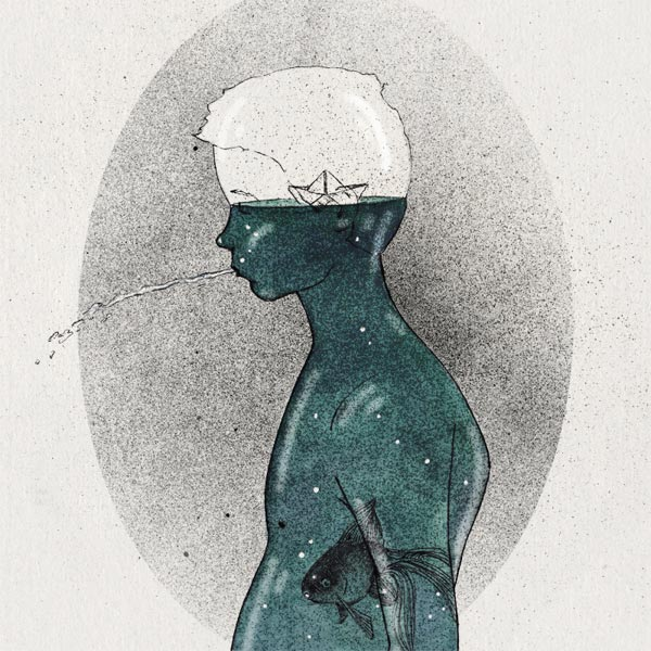 Ocean inside me - Illustration by Slava Triptih