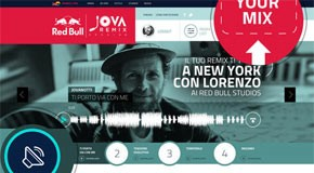 Red Bull Jova Remix Session - Web Design by Fabio Minerva