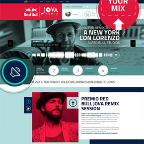 Red Bull Jova Remix Session - Web Design by Fabio Minerva