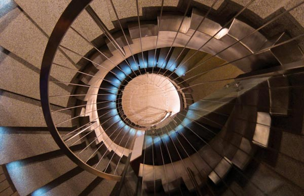 Spiral Staircase of the Cliff House in Senegal by SAOTA