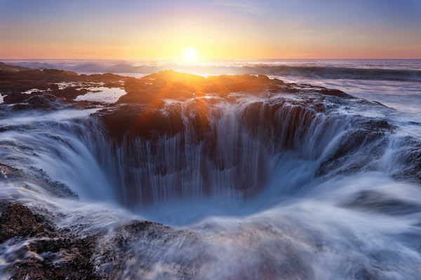 Sunset in the Underworld - Landscape Photography by Miles Morgan