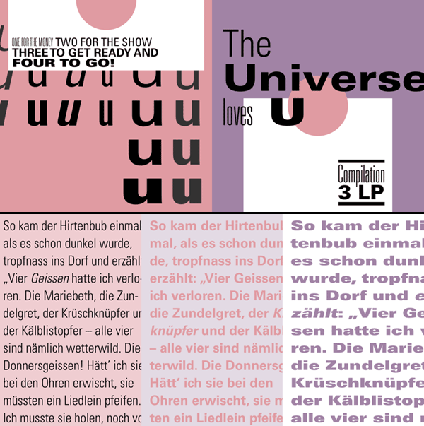 Univers - a sans serif font family designed by Adrian Frutiger