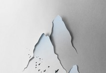 Vertical Landscape - Papercut Illustration by Eiko Ojala