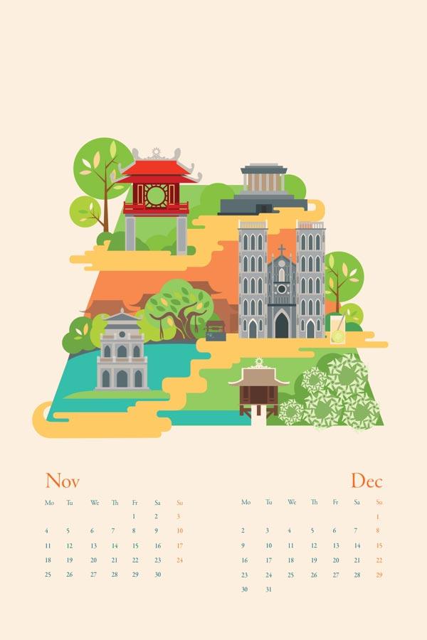 Calendar Illustration : Calendar illustrations by tu bui