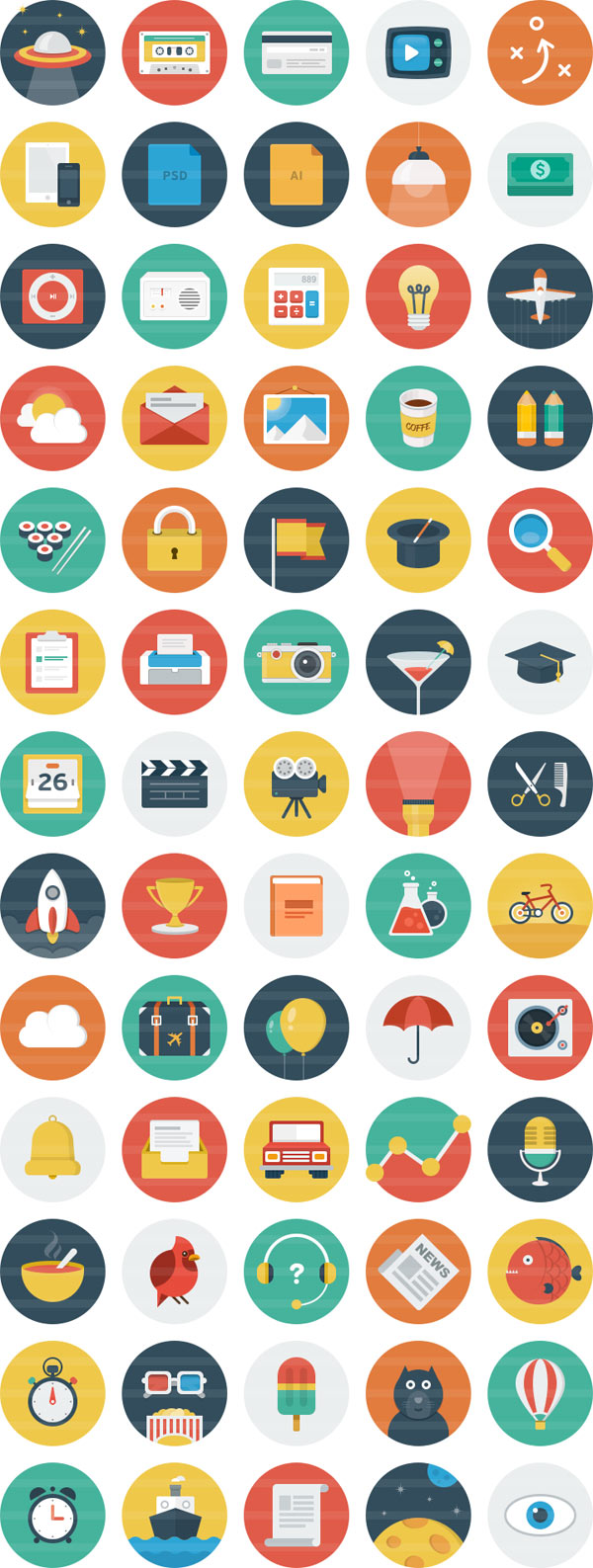 Ballicons – an Original Flat Icon Set for Download