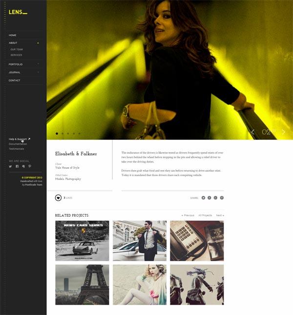 Lens Portfolio Grid WordPress Theme