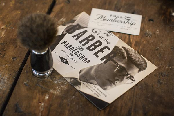 Art + Science Barbershop Brand Design by Firebelly Design