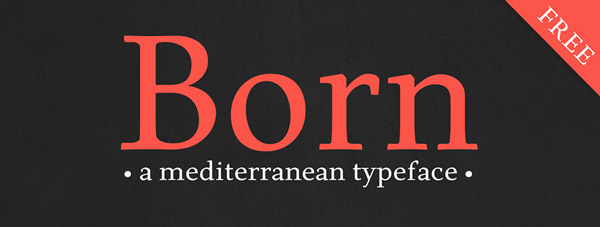 Born Typeface - Free Download