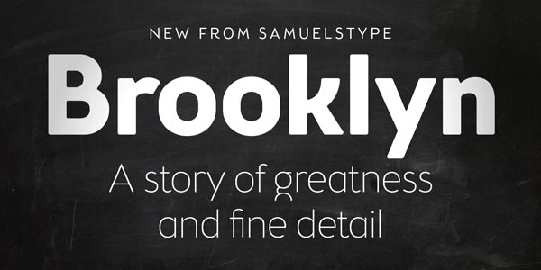 Brooklyn Samuels – Sans-Serif Font Family by Samuelstype