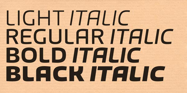 Bruum FY - Light, Regular, Bold, Black, Italics