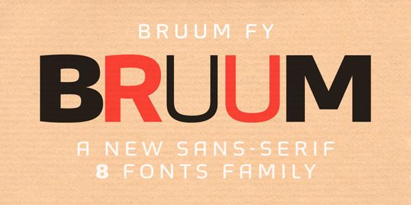 Bruum FY - Sans Serif Font Family by Fontyou