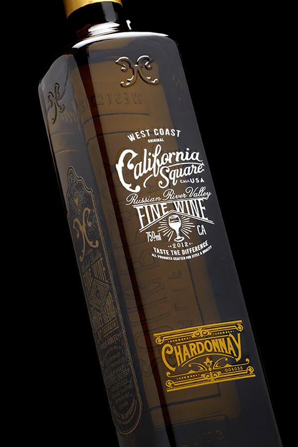California Square bottle design by Stranger & Stranger
