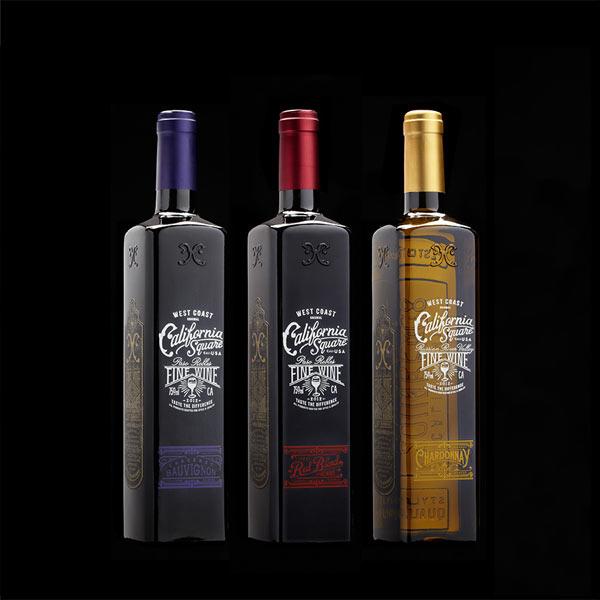 California Square bottles by Stranger & Stranger