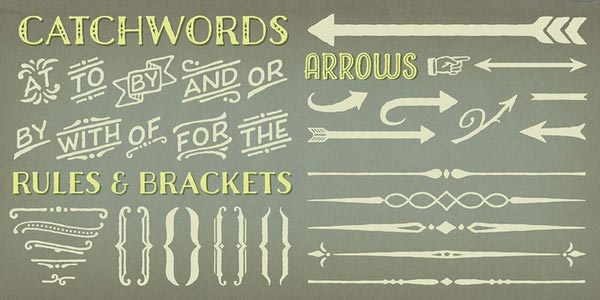 Charcuterie - catchwords and arrows