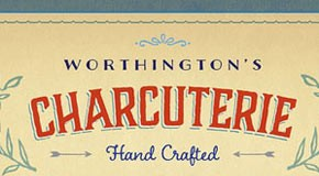 Charcuterie - hand drawn vintage font family by Laura Worthington