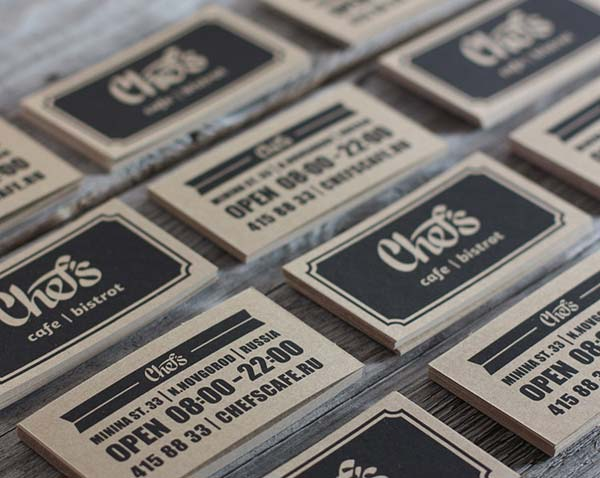 Chef's Cafe - Business Cards by Fox in Sox Design Studio