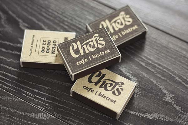 Chef's Cafe - Matchboxes Design by Fox in Sox Design Studio