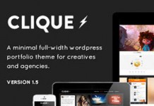 Clique - AJAX Responsive Portfolio WordPress Theme by SwiftIdeas