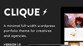 Clique - AJAX Responsive Portfolio WordPress Theme by SwiftIdeas