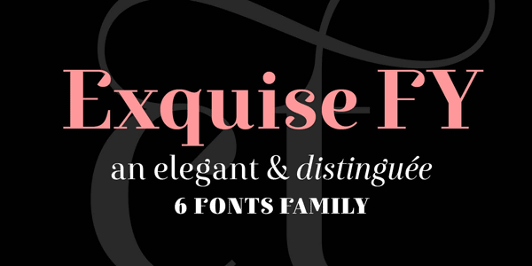 Exquise FY Font Family by Fontyou