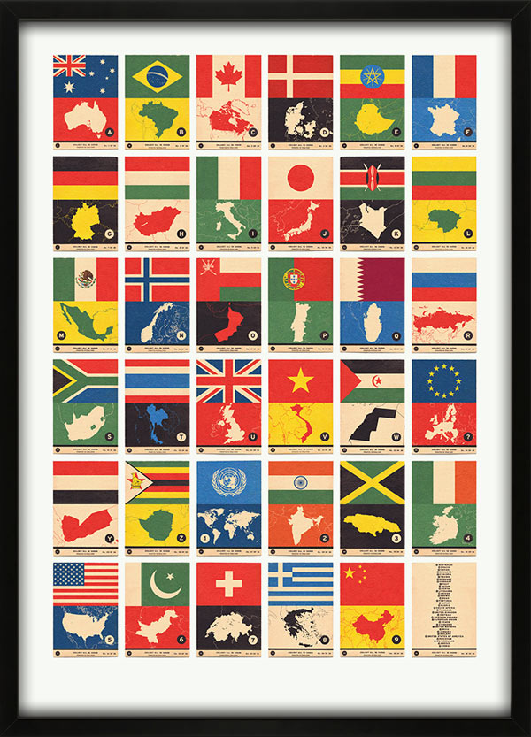 Flag Atlas A to Z Print by 67 Inc