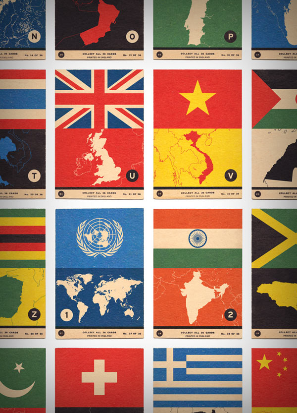 Flag Atlas A to Z Print by 67 Inc - close up
