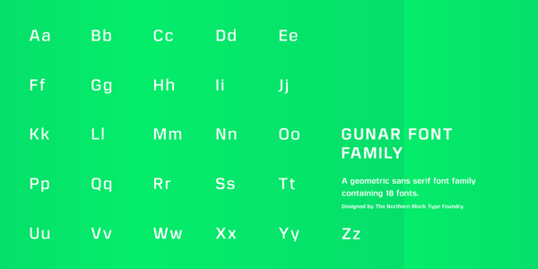 Gunar Font Family by The Northern Block