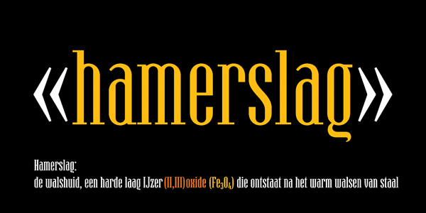 Condensed Serif Type Hamerslag Condensed Serif