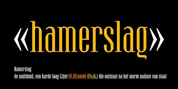 Hamerslag - condensed serif type family by Paweł Burgiel