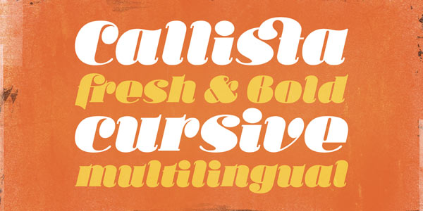 Ka Callista - Bold and Cursive Display Typeface by Karandash