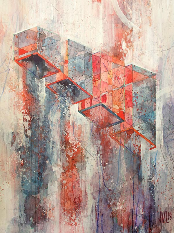 Kinzie - Small Scale Painting by Jacob van Loon