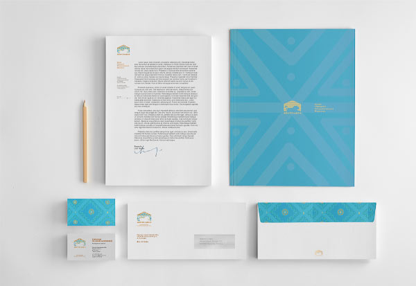 Lion House Stationery Design by Alexander Kormilitsyn