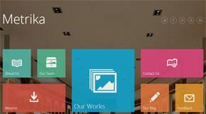 Metrika — Metro Style WordPress Theme by InfoStyle