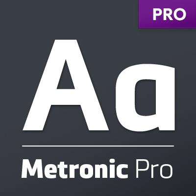 Metronic Pro – Technological Sans Serif Font Family by Mostardesign
