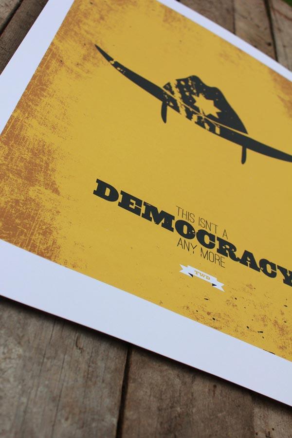 Minimalist Walking Dead Prints by Design Different