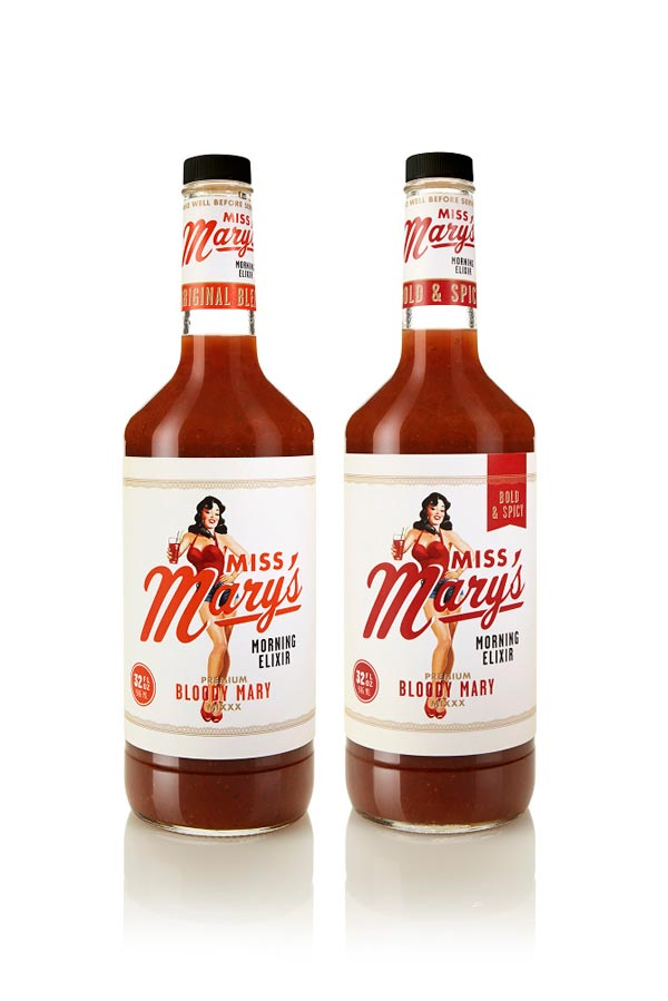 Miss Mary's Morning Elixir - Bottle Packaging Design by Brandon Van Liere