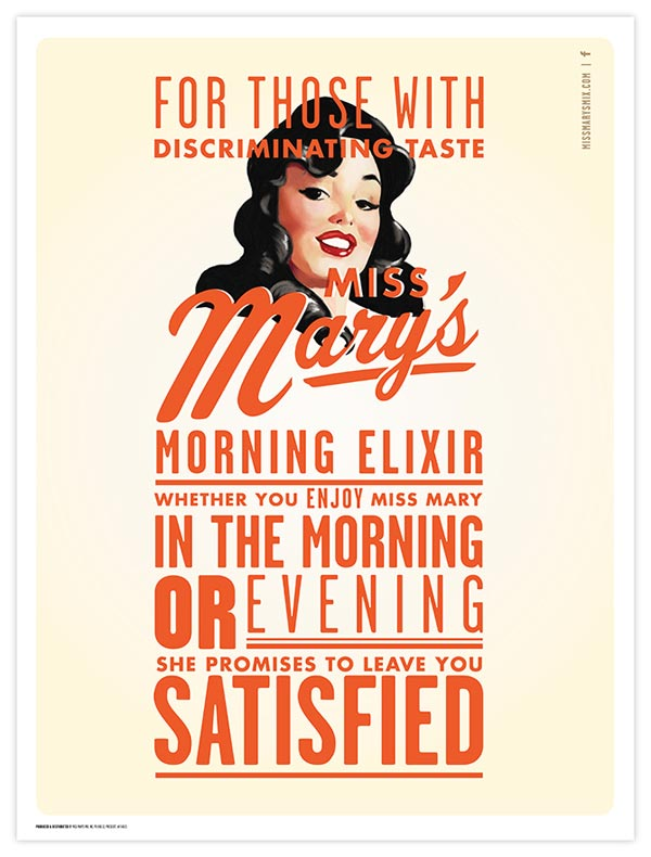 Miss Mary's Morning Elixir - Poster Design by Brandon Van Liere