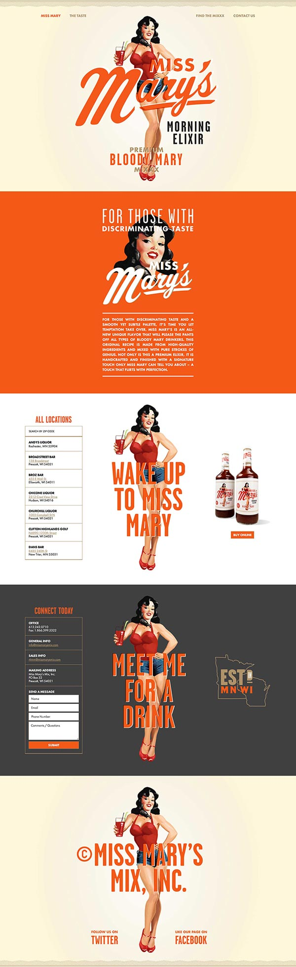 Miss Mary's Morning Elixir - Web Design by Brandon Van Liere