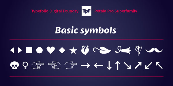 Pétala Pro - Basic Symbols