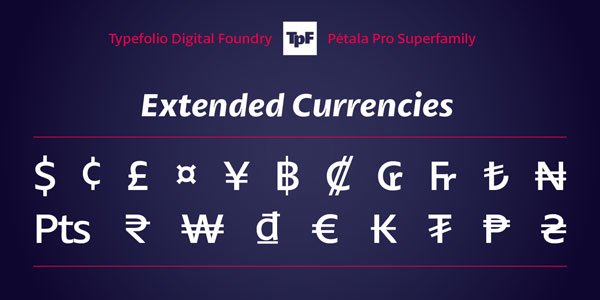 Pétala Pro - Extended Currencies