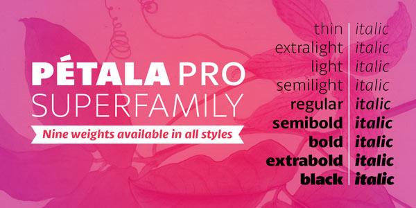 Pétala Pro - Font Family by Typefolio