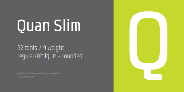 Quan Slim Font Family by Typesketchbook