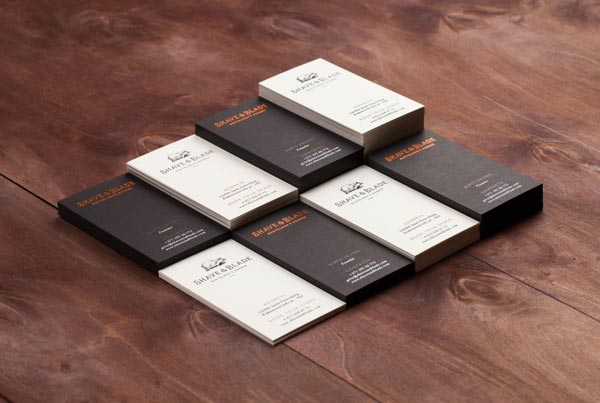 Shave & Blade Business Cards by Studio Eskimo