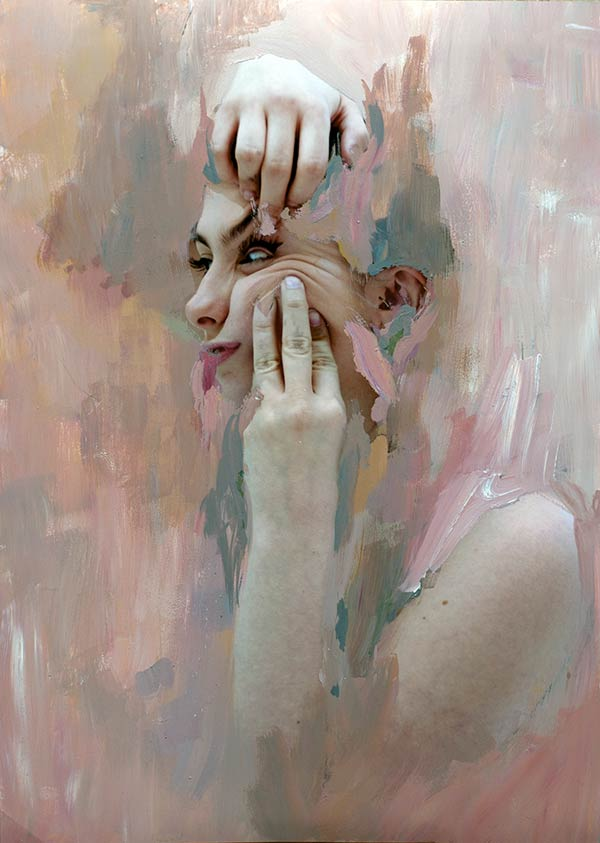 Skin Series - Mixed Media Collage by Rosanna Jones