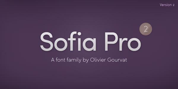 Sofia Pro, a sans serif font family from type foundry Mostardesign.