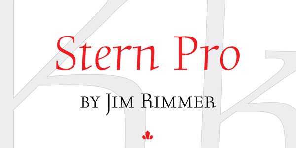 Stern Pro – Font Design by Jim Rimmer