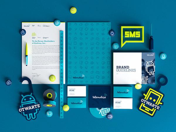 Telemobisie Brand Identity by Gosia and Wojciech Zalot
