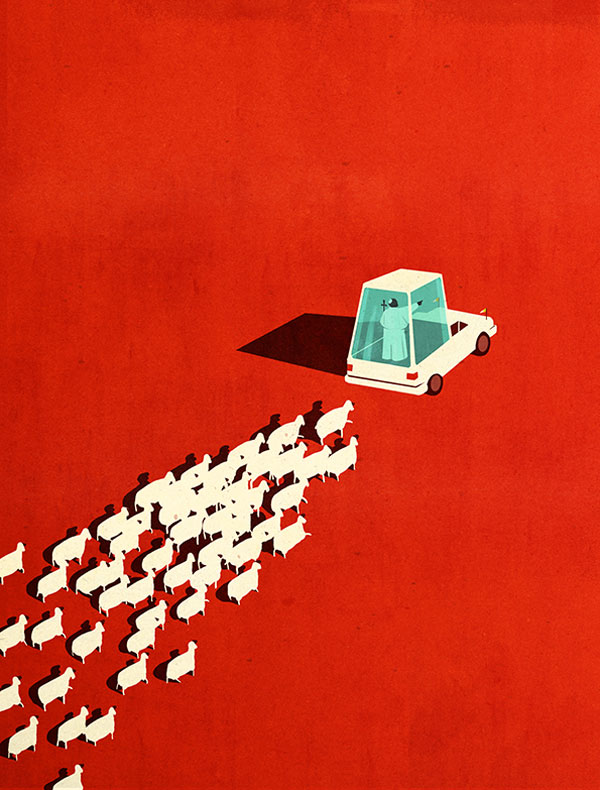 Editorial Illustrations by Emiliano Ponzi