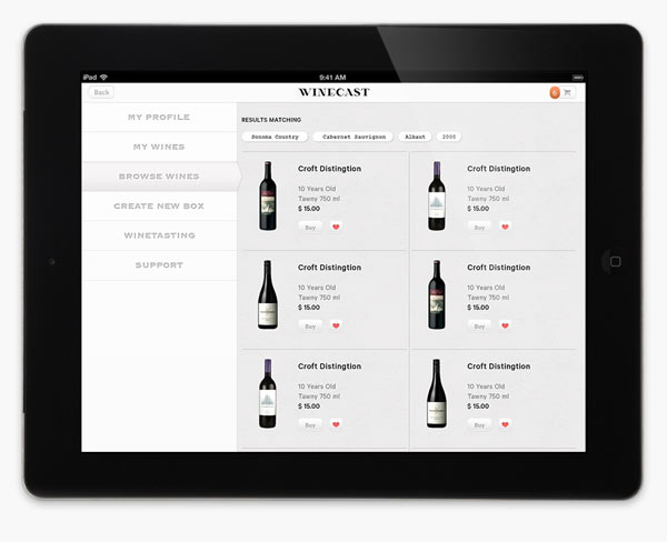 Winecast - Web Design by Anagrama