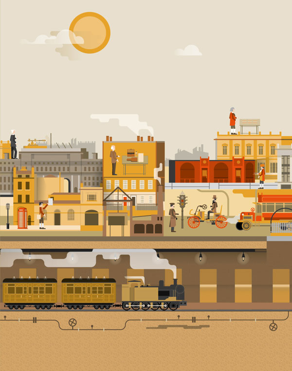 Vintage London Illustration by The Design Surgery